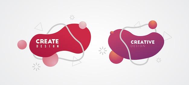 Banner de diseño de fondo creativo
