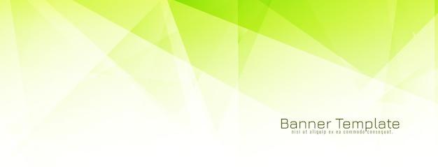 Banner de diseño geométrico poligonal verde abstracto