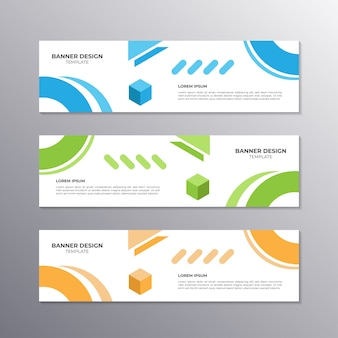 Banner con diseño minimalista, negocio geométrico genial