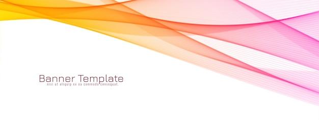 Banner de diseño de onda decorativa abstracta