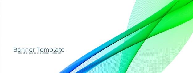Banner de diseño de onda decorativa elegante