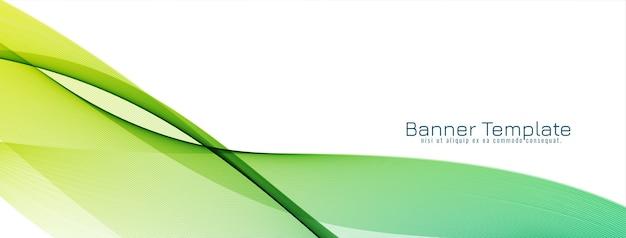 Banner de diseño de onda con estilo moderno
