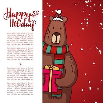 Banner de diseño de plantilla para navidad.