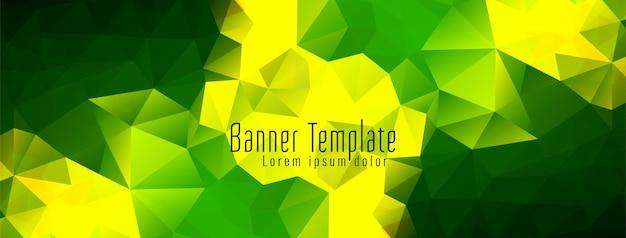 Banner de diseño de polígono geométrico abstracto
