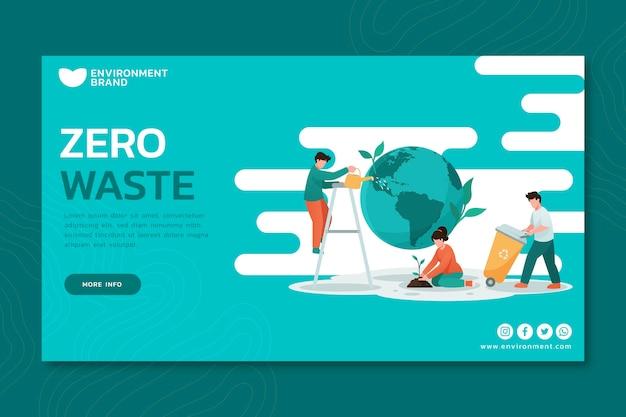 Banner ecológico ambiental.