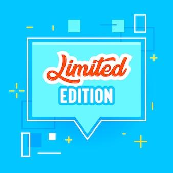 Banner de edición limitada para publicidad de marketing en redes sociales digitales