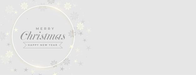 Banner elegante festival de feliz navidad con espacio de texto