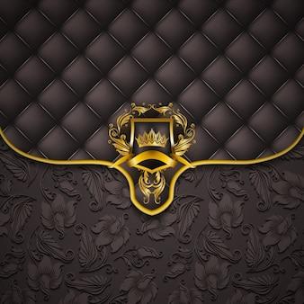 Banner elegante marco dorado
