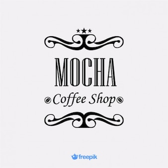 Banner elegante de tienda de café mocha