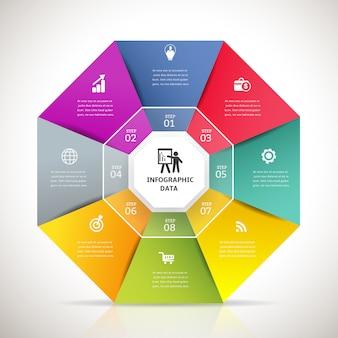 Banner de elemento de diseño de infografía moderna.