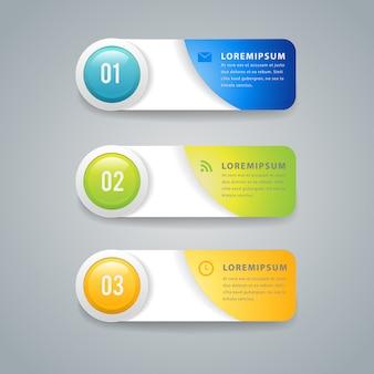 Banner de elemento de infografía moderna.