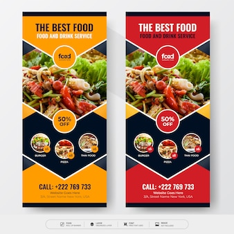 Banner enrollable de alimentos