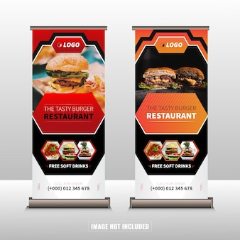 Banner enrollable de restaurante