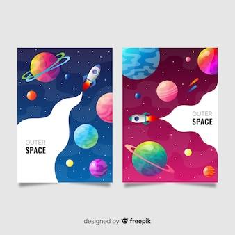 Banner espacio exterior colorido