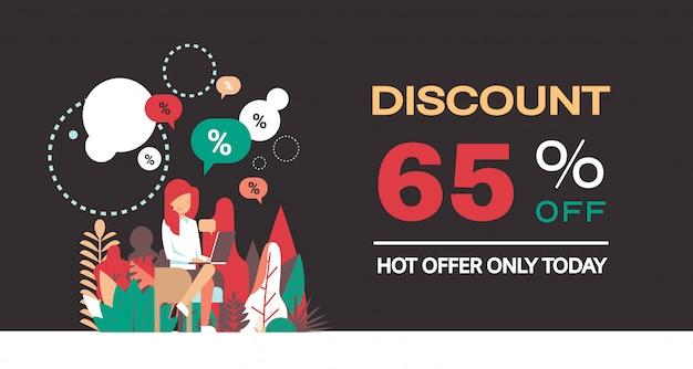 Banner especial de ventas con 65% de descuento