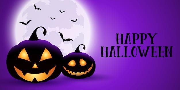 Banner espeluznante de halloween
