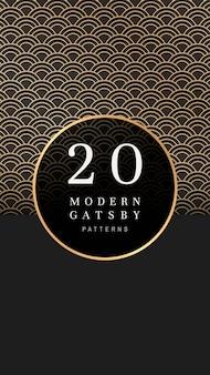 Banner estampado gatsby