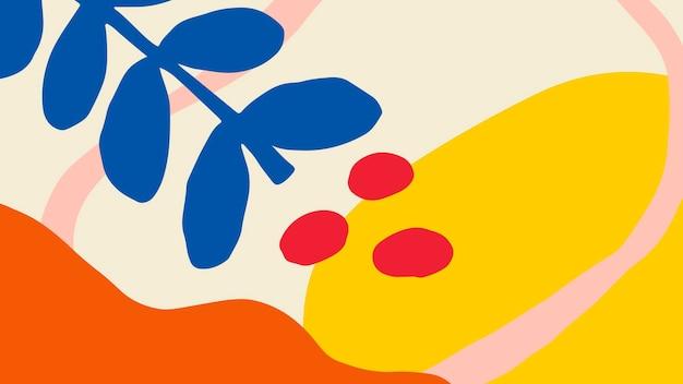 Banner estampado tropical colorido y brillante