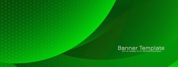 Banner de estilo de onda moderna de color verde brillante