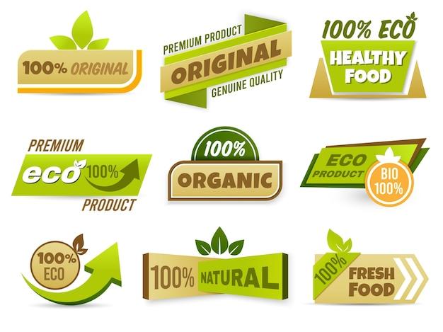 Banner de etiqueta ecológica