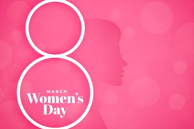 Banner de evento de día de mujer feliz rosa precioso