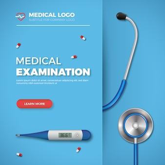Banner de examen médico