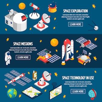 Banner de exploración espacial