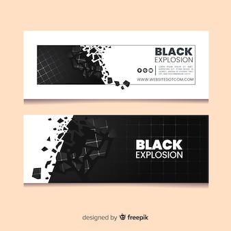 Banner de explosión negra