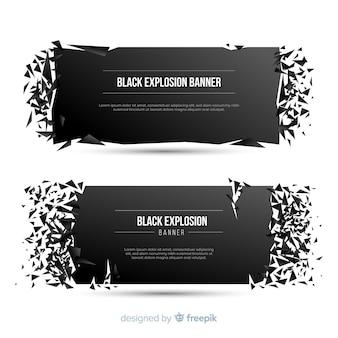 Banner de explosión oscura