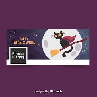 Banner de facebook con concepto de halloween