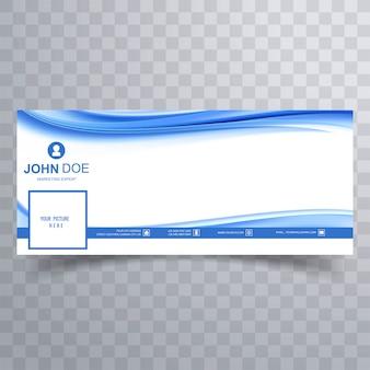 Banner de facebook de onda empresarial abstracto para línea de tiempo