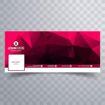 Banner de facebook polígono abstracto