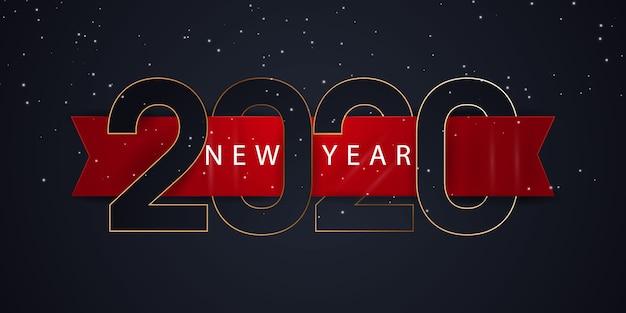 Banner de feliz año nuevo 2020