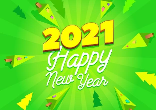 Banner de feliz año nuevo.