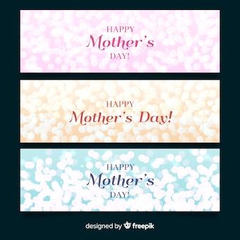 Banner de feliz día de la madre