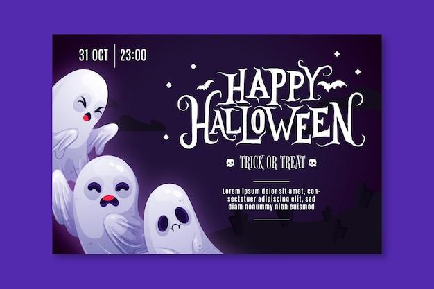 Banner de feliz halloween