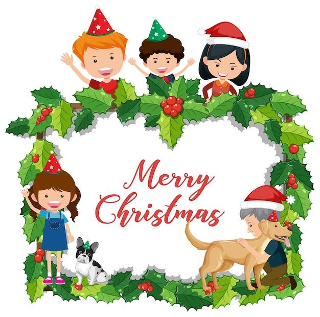 Banner de feliz navidad aislado