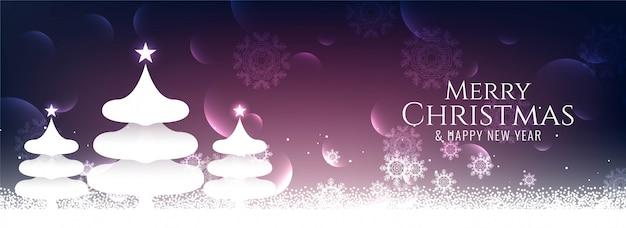 Banner de festival elegante abstracto feliz navidad