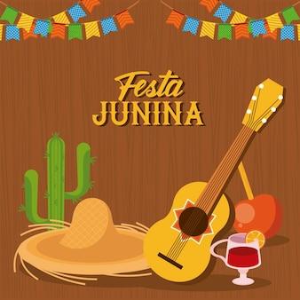 Banner del festival festa junina