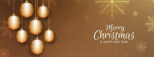 Banner festivo decorativo de feliz navidad
