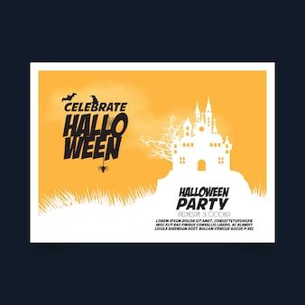 Banner de fiesta de halloween