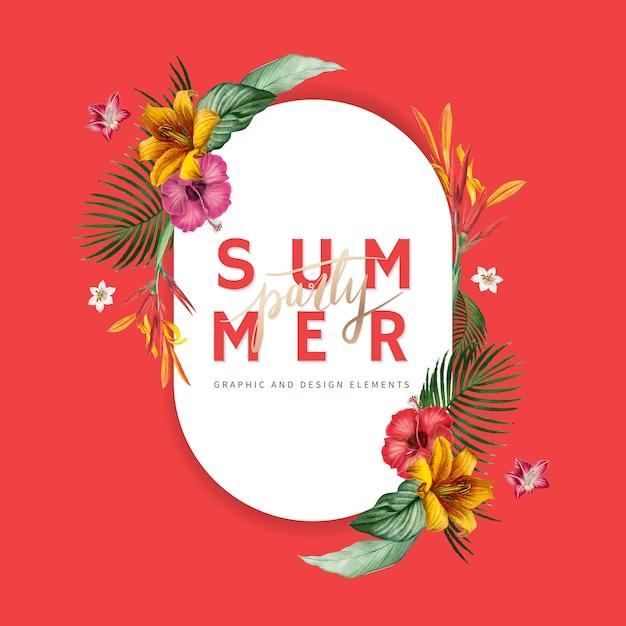 Banner fiesta de verano