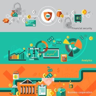 Banner de finanzas con elementos