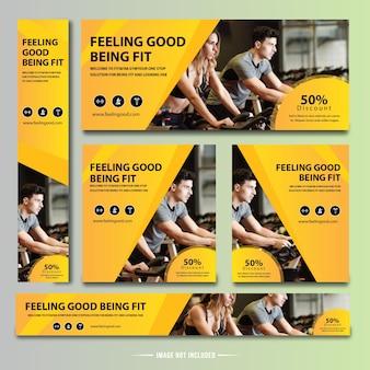 Banner de fitness para gimnasio