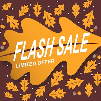 Banner fondo abstracto venta flash