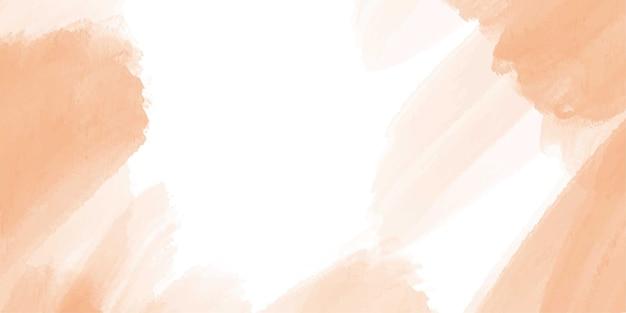 Banner de fondo acuarela naranja abstracto