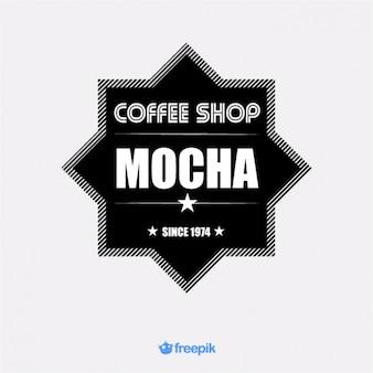 Banner con forma de estrella de cafetería mocha