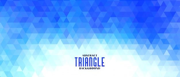 Banner de forma de triángulo abstracto azul patrón
