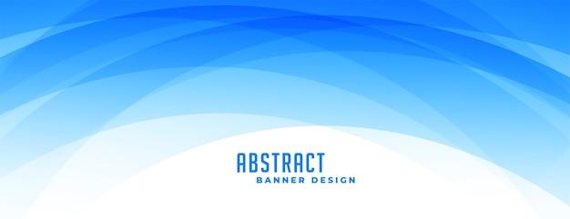 Banner de formas curvas azules abstractas