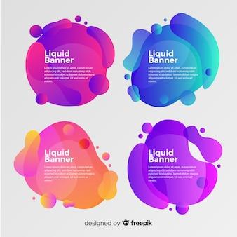 Banner formas fluidas abstractas degradadas
